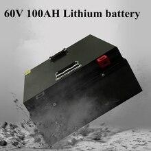 Электрический автомобиль литиевая батарея 60 в большой емкости 60 в 100AH три юаня мощность трехколесный велосипед старый скутер литиевая батарея+ 10А зарядное устройство