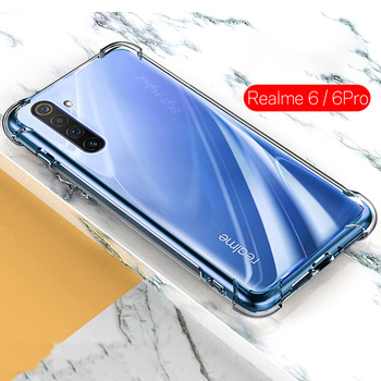 Clear Shockproof Airbag For oppo realme 6 case TPU Silicone Shell for oppo Realme 6 Pro 6pro realme6 pro real me 6 soft Cover