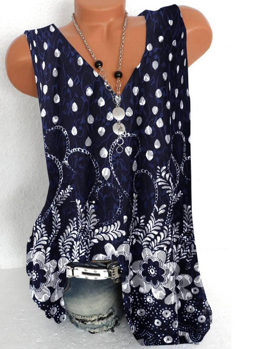 Fashionable temperament woman V-neck T-shirt loose casual T-shirt sleeveless vest shirt ladies elegant(China)