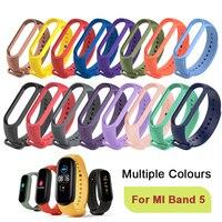 Cinturino colori per Xiaomi Mi Band 5 cinturino sportivo orologio cinturino da polso in Silicone morbido per Xiaomi Mi Band 5 bracciale Miband 5 bracciale
