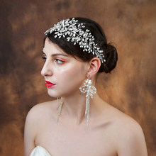 Tiara for Brides Wedding Hair Accessories Tiara and Rhinestone Crown jewelry with Crystal for Hair SCHP236(China)