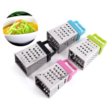 Mini Empat Sisi Manual Sayur Spiral Slicer Chopper Slicer Parutan Keju Pintar Cutter Dapur Alat Stainless Steel Planer(China)
