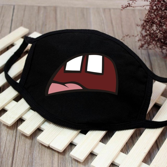 1pc Cute Unisex Funny Tooth Dust Mask Lips Fangs Cotton Mask Cartoon Kpop Flu Mask Emotiction Masque Hot 1