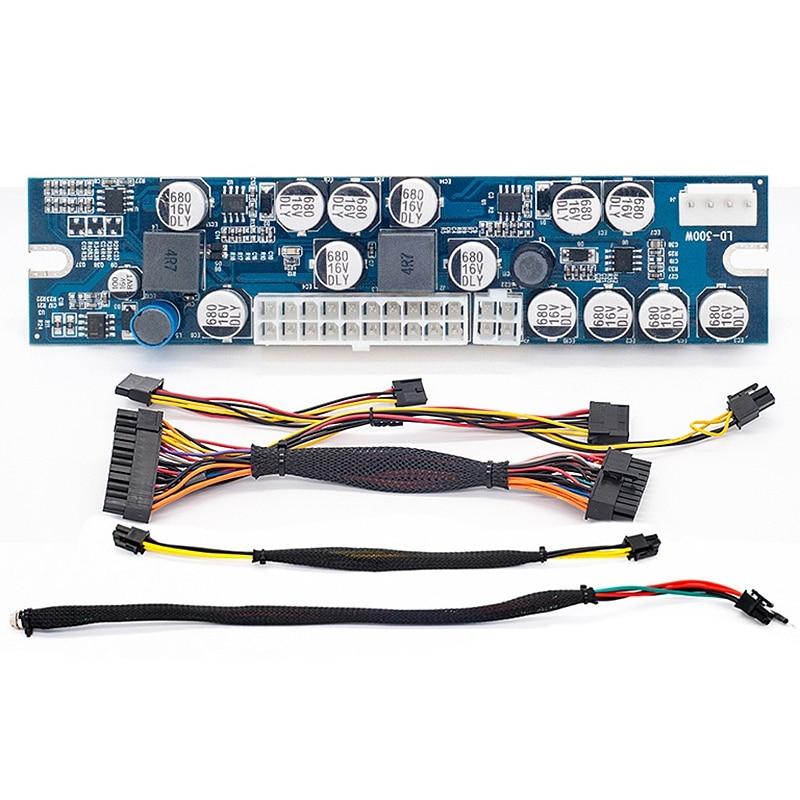 Cc Atx pic Psu 12V 300W Pico Atx commutateur minier Psu 24Pin Mini Itx cc à Atx alimentation pour Mini ordinateur Ssd