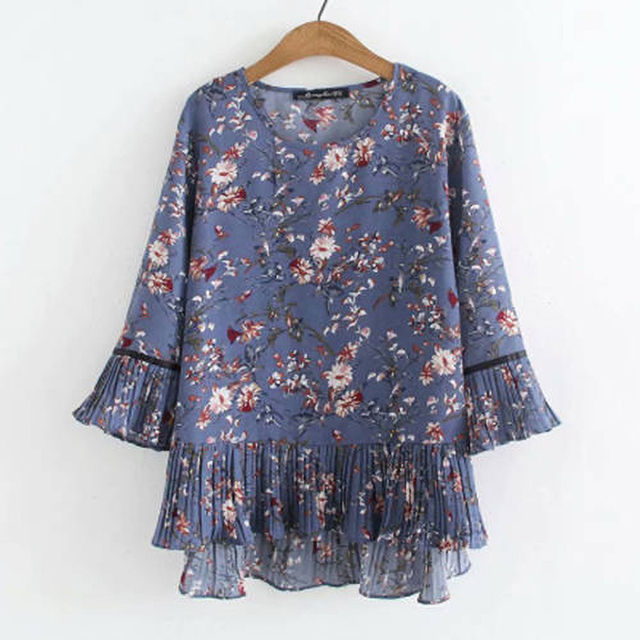 chiffon top floral print loose and free 4