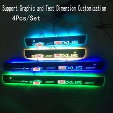 4 Pz/set Applicabile a LLEXUS In Streaming di colore HA CONDOTTO LA Lampada soglie delle porte Pedale Benvenuto/Illuminazione Dinamica Del Veicolo Soglia Per LEXUS ES