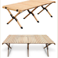 Wooden Table Cake-Roll Travel Picnic Garden Outdoor Camping Folding BBQ