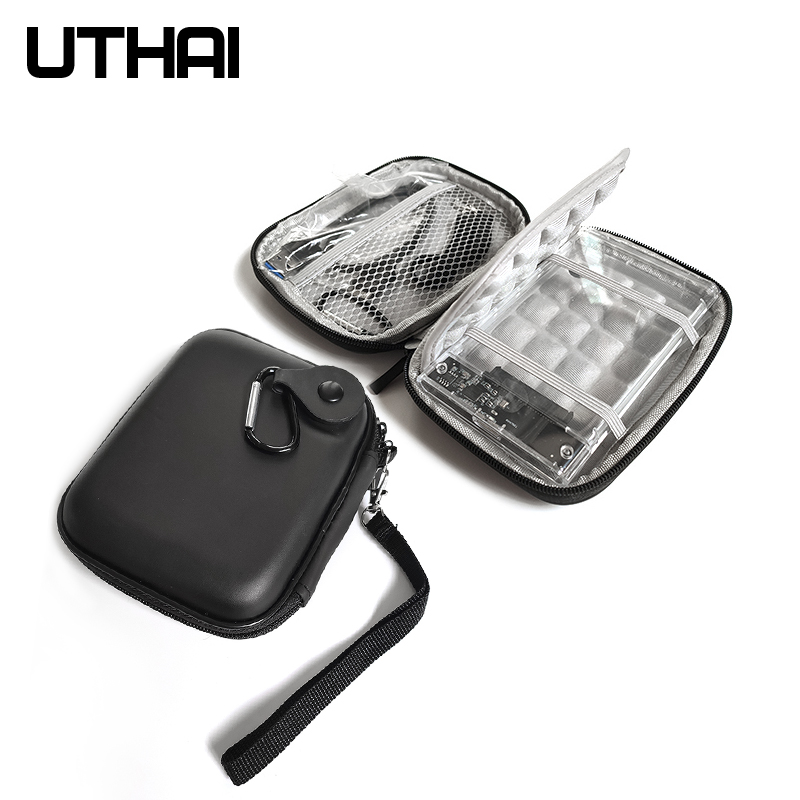 """UTHAI T28 2.5"""" HDD Case Protect Bag EVA Box for Hdd Hard drive cover enclosure Power Bank Pouch Box Cable Mouse Storage Bag"""