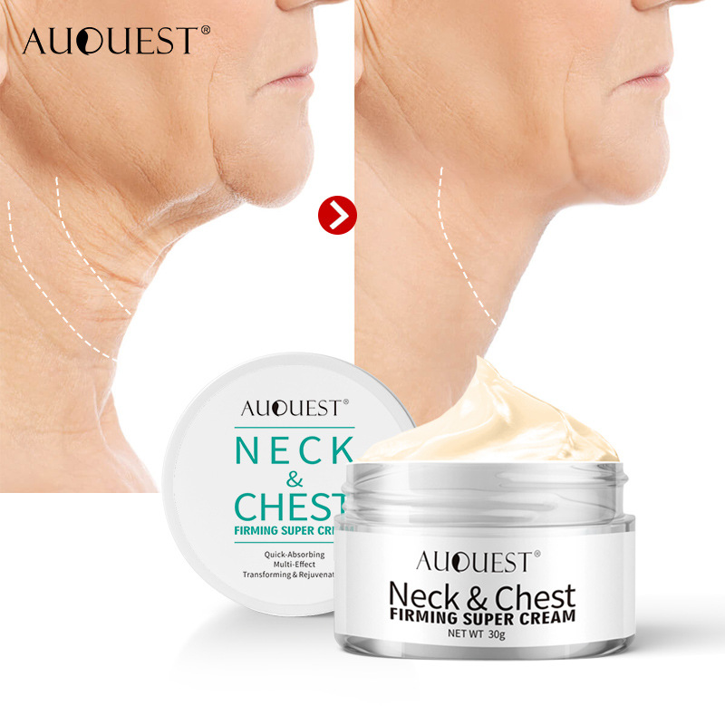 AuQuest Neck & Chest Wrinkle Cream Tightening Skin Anti Aging Wrinkles Remover Lifting Skin Firming Cream Neck Skin Care 30g