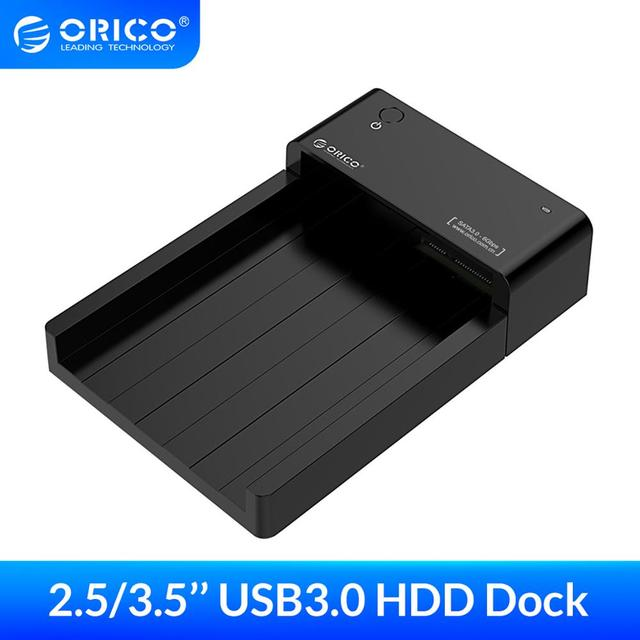 ORICO 6518US3 Super Speed USB 3.0 HDD Hard Drive & SSD Docking Station for 2.5 -inch & 3.5 - inch SATA Support 8TB HDD-Black