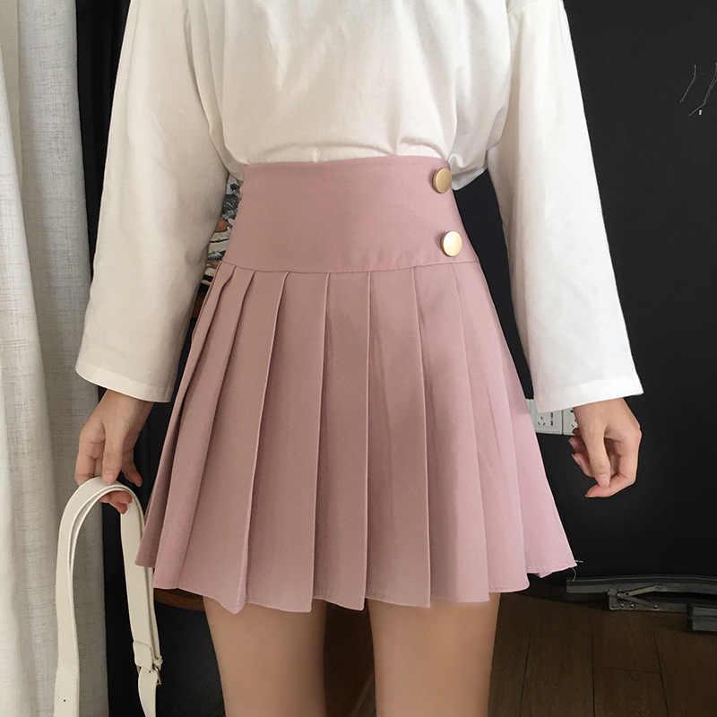 Весна 2019 корейский стиль новый студенческий милая плиссированная юбка