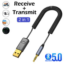 Aux Bluetooth Adapter USB Dongle For Car kit TV Headphone 3.5mm Jack Aux Bluetooth 5.0 Receiver Speaker Audio Music Transmitter