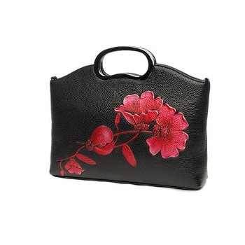 cow leather shoulder bags 2020 new luxury handbags women bags designer ladies chain bag floral genuine leather bag