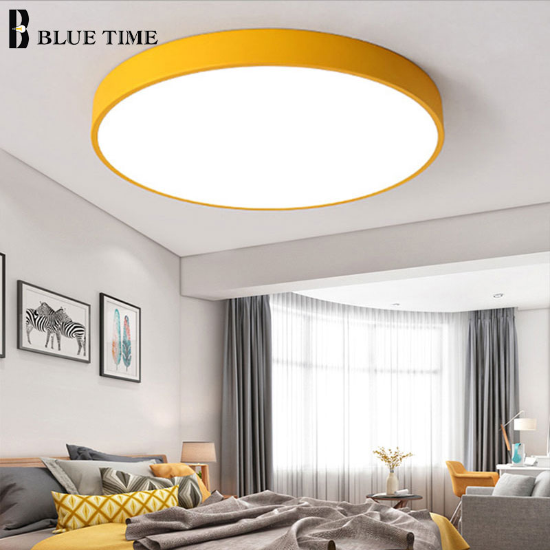 Image 3 - Modern LED Chandelier For Living Room Bedroom Lustre Round Ceiling Chandelier Lighting Fixture Lampara Techo Black&White Lamps-in Chandeliers from Lights & Lighting