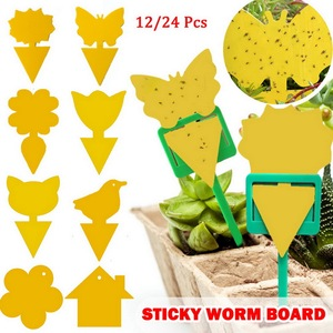 Yellow Strong Flies Sticky Traps Bugs Flying Traps Catching Aphid Pest Killer Outdoor for Fruit Fly Fungus Insects Double Traps