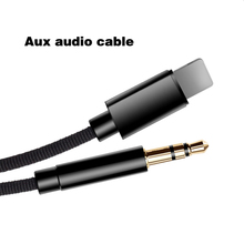 Car Audio Cable For iPhone lighting Jack to Aux Adapter 3.5mm Speaker Headphone