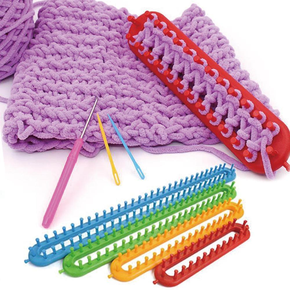 Techinal ABS Plastic Knitting Knitter Looms Ring Craft Kit for Sock Scarf Hat Small 26cm//10