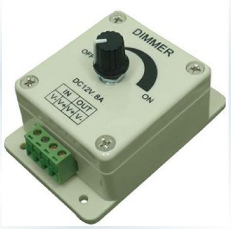 12V 8A Stepless Dimmer Switch LED Strip Dimmer Portable Manual Dimmer Monochrome Light Belt