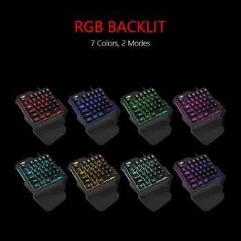RedThunder One-Handed Gaming Keyboard RGB Backlit 6400dpi Macro Programming Mouse Combos,Portable Mini Keypad for Laptop PC 2