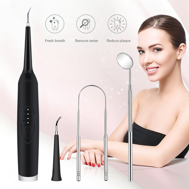 3 Modes Dental Calculus Remover USB Tooth Cleaner Scaler Portable Electric Oral Irrigation Teeth Tooth whitening Tartar Scraper