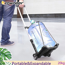 20kg Portable Garden Cart Foldable Aluminum Alloy Trolley Folding Heavy Duty Hand Shopping Truck Expandable Travel Luggage Cart