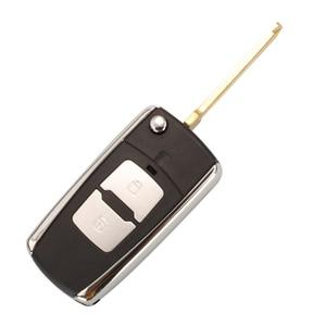 Image 4 - Bilchave Geändert 2 Tasten Flip Remote Auto schlüssel Shell Fall Für Hyundai Elantra Santa FE Atos Traje Für KIA FOB rechts Klinge
