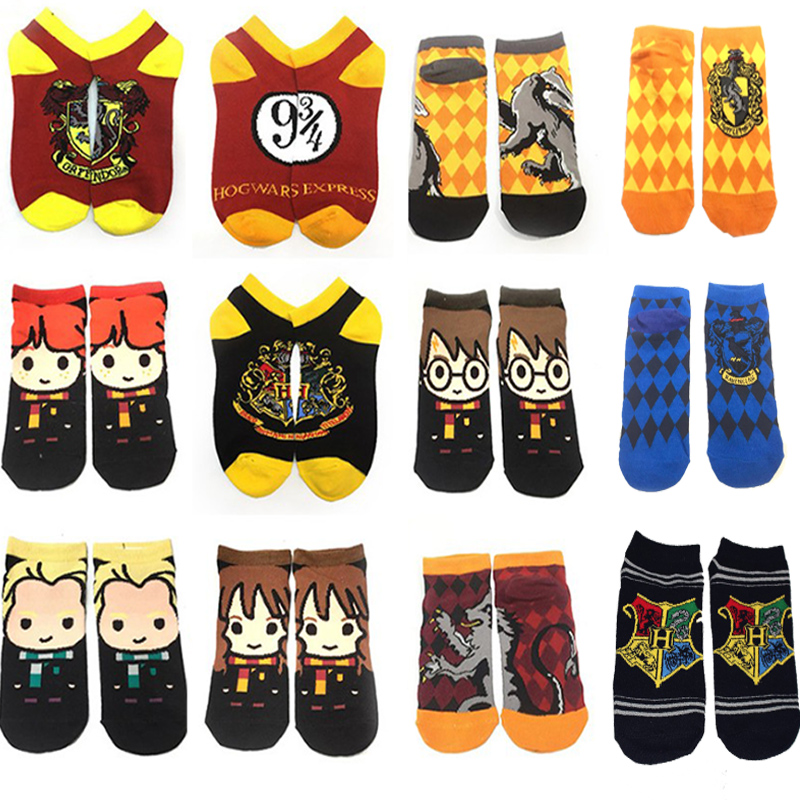 Harried College Potter Socks Girl Boy Cosplay Gryffindor Hermione Dumbledore Ron Socks Super Casual Socks Halloween Costume Kids