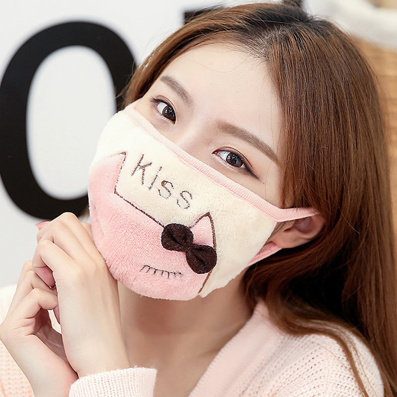 Winter Warm Mask Female Face Mask Cotton Anime Mouth Mask Anti-dust Pollution Masks Cute Masker Unisex For Woman Man Child маска