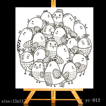 ZhuoAng Cute chicken mom Clear Stamps/Card Making Holiday decorations For  scrapbooking Transparent stamps 13*13cm