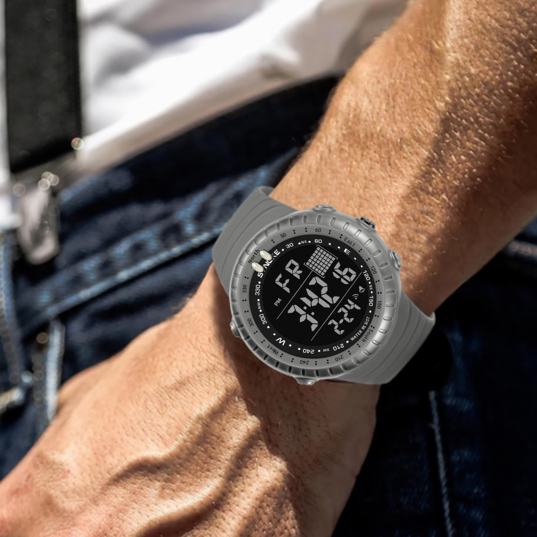 SYNOKE Men Watch Sport Watch 50M Waterproof Large Dial Luminous Digital Male Wrist Watch Men