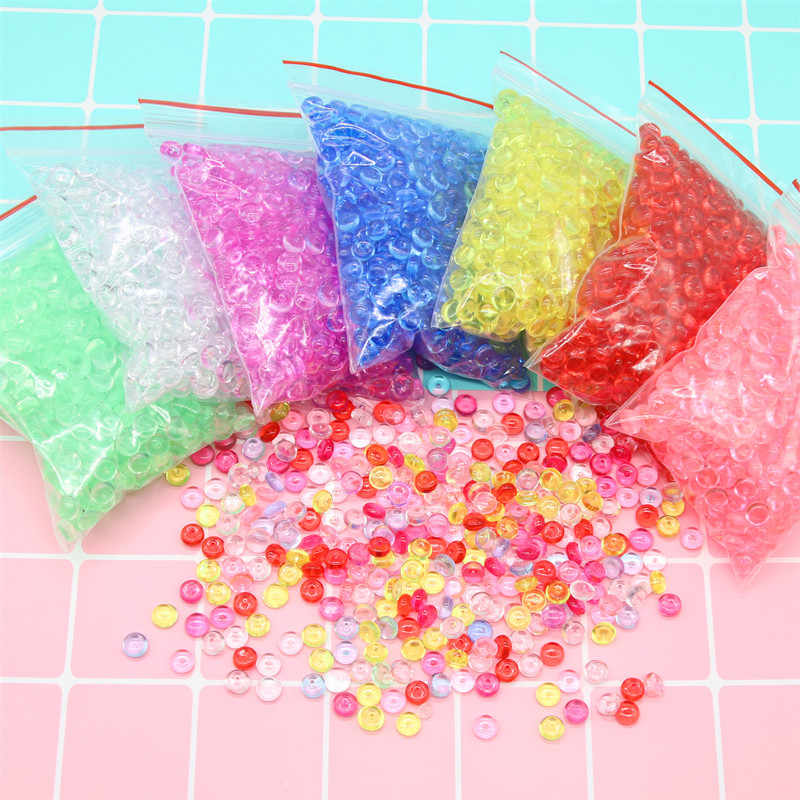 Abalorios de bolitas de colores de 20g, adornos de relleno para tanque de peces de juguete de limo DIY, decoración para chico accesorios para baba