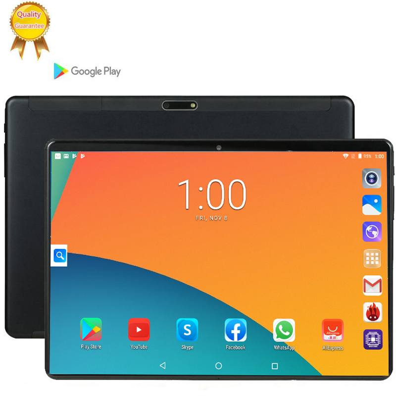 Android 9.0 64G  The Tablet 10.1 Inch 3G Phone Tablet PC 1920x1280 8 Octa Core RAM 6GB Tablet 10 Kids Tablets Bluetooth 64GB GPS