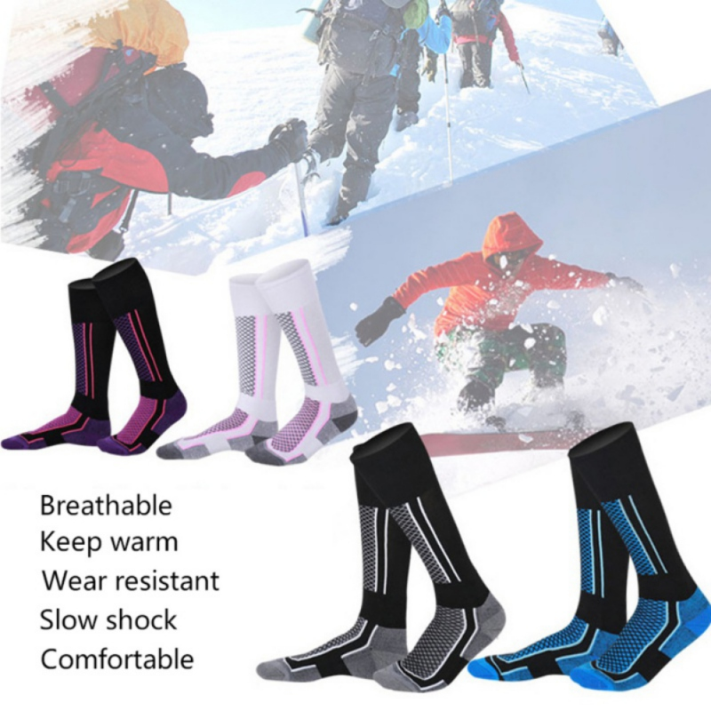 Kids Winter Thermal Ski Socks Thicken Cotton Warm Socks  Outdoor Snowboarding Cycling Cycling Hiking Stocking Socks Leg Warmer