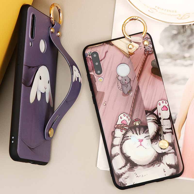 Wrist Strap Holder Case For Huawei Honor 9S 9A 9C 9X X10 10I 10 20 P40 P20 P30 Lite Pro Y5P Y6P Y7P P Smart 2020 2019 TPU Fundas