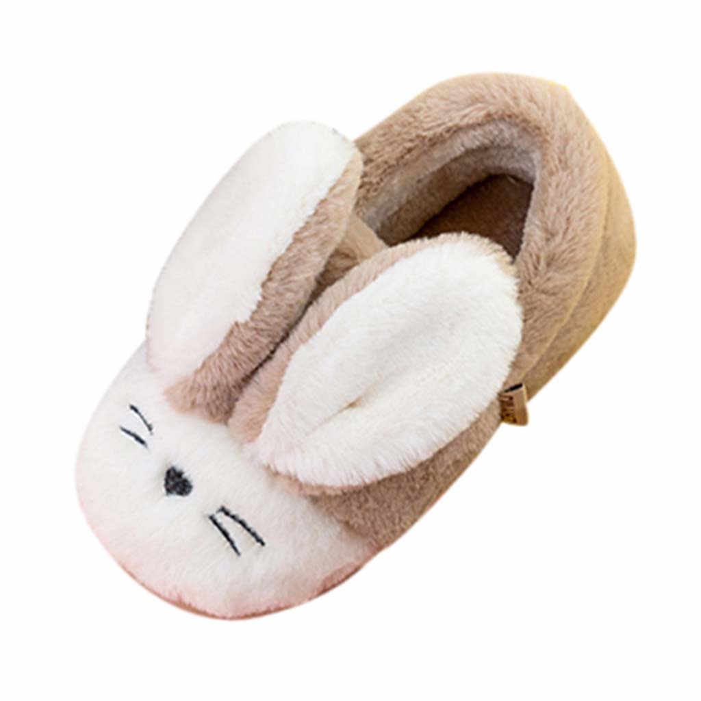 Toddler Winter kids Shoes Slippers Children Cartoon Rabbit Warm Non-slip Floor Home Slippers Shoes тапочки домашние детские