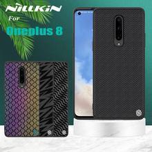 Para oneplus 8 pro twinkle caso nillkin texturizado fibra de náilon luxo durável antiderrapante capa completa caso de poliéster para um mais 8 pro