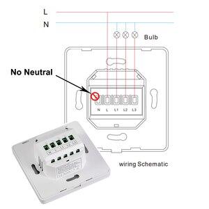 Image 2 - Zigbee умный переключатель дистанционного Управление Wi Fi, кнопочный переключатель настенный светильник переключатель 1 2 3 Gang без нейтральный один противопожарная проводка Работает с Amazon Alexa Google Home Tuya