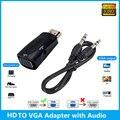 Новый HD 1080P, совместимому с HDMI к VGA адаптер цифро-аналоговый преобразователь видео кабель для портативных ПК ТВ коробка компьютер Дисплей пр...