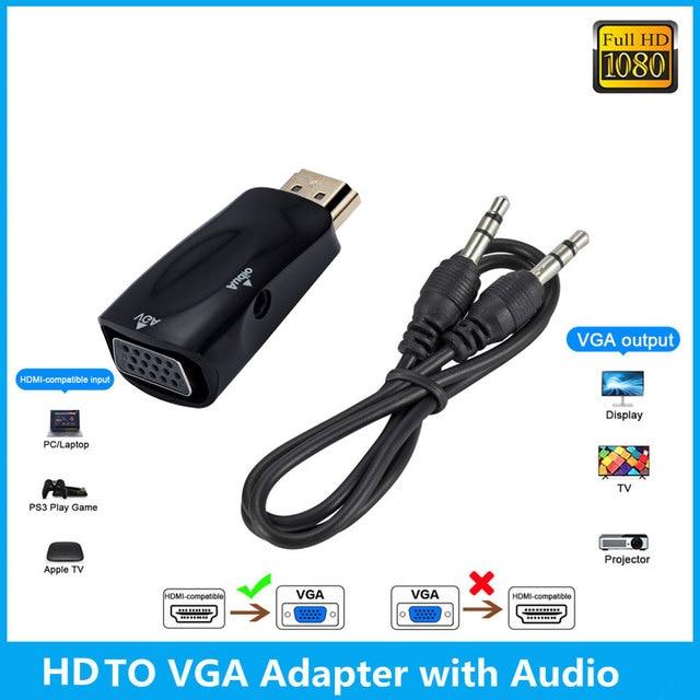 Nieuwe Hd 1080P Hdmi Compatibel Naar Vga Adapter Digitaal Naar Analoog Converter Kabel Voor Pc Laptop Tv Box computer Display Projector