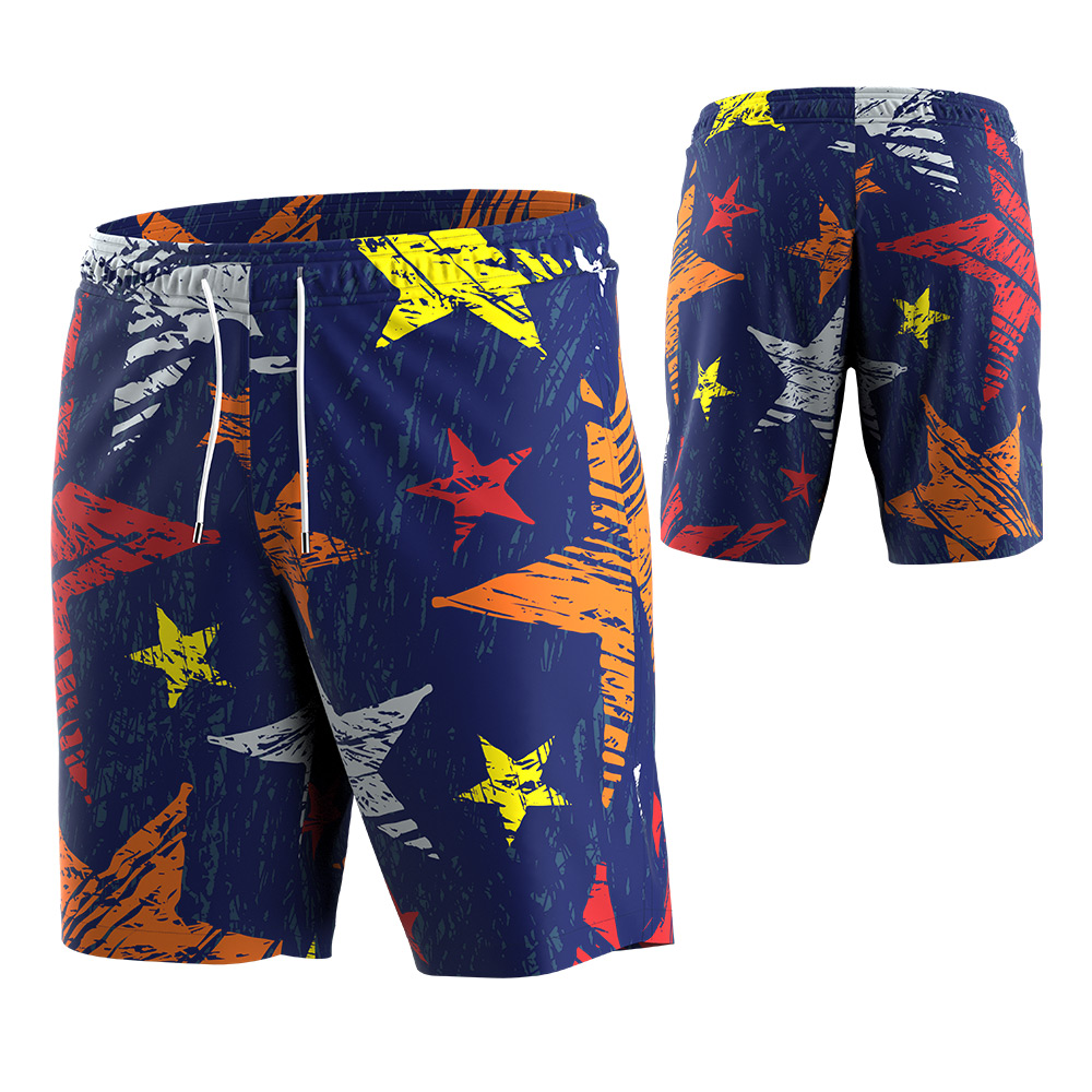 Zhouka Mens Summer Beach Shorts Cool Boardshorts with Pockets Quick Dry Surfing Swim Trunks