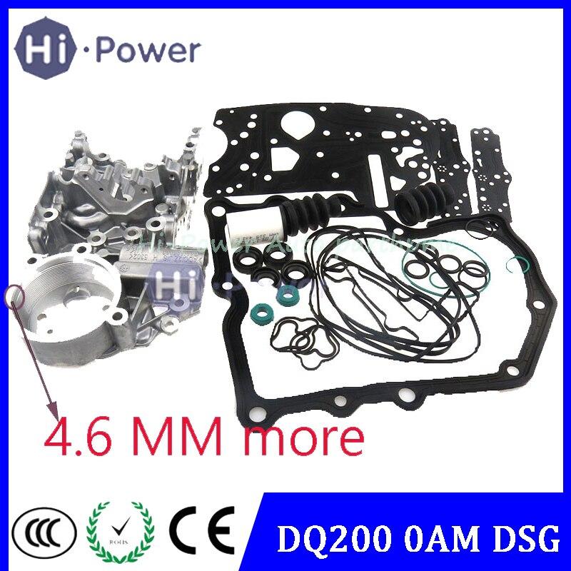 누적 하우징 4.6 DSG DQ200 0AM 0AM325066AC 0AM325066C 0AM325066AE 0AM325066R 변속기 밸브 본체 Audi Skoda 7 속도 용