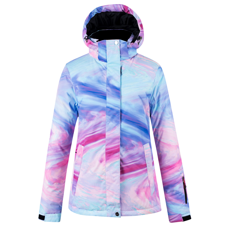 New Colorful Snow Suit Outdoor Woman Ski Jacket + Snow Bibs Pants Winter Waterproof Thicken Costumes Female Snowboard Set