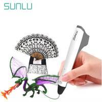 SUNLU 3D 펜 프린스 저온 프린스 M1 3D 인쇄 펜 어린이를위한 새로운 상자 선물 세트 낙서 포함 1.75mm PLA 필라멘트