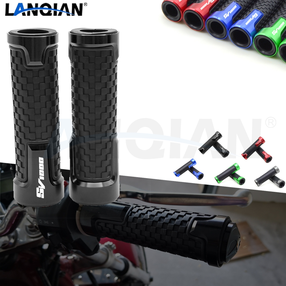 For <font><b>Suzuki</b></font> <font><b>SV1000</b></font> 7/8''22MM Motorcycle Handlebar Grips Hand Bar Grips <font><b>SV1000</b></font> SV1000S <font><b>2003</b></font> 2004 2005 2006 <font><b>2007</b></font> CNC Accessories image
