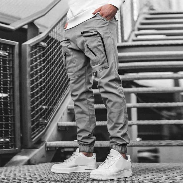 Streetwear Hip hop Joggers Pants Men Loose Harem Pants Ankle Length Trousers Sport Casual Sweatpants White Techwear  1.13 5