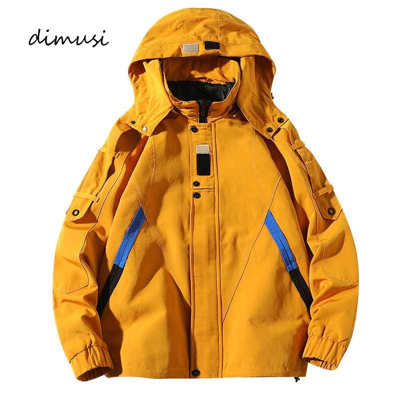 DIMUSI Mens Anorak Bomber Jacket  Casual Men Outwear Windbreaker Army Tactics Coats Man Fashion Hip Hop Streewear Hooded Jackets
