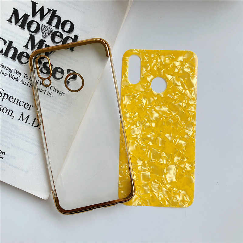 Glitter Marmer Plating TPU Case untuk Huawei P20 Pro P30 Lite Nova 5 4 3 Mate 30 20 P Smart kehormatan 9X 8X 8A Cover Lembut Ponsel Case