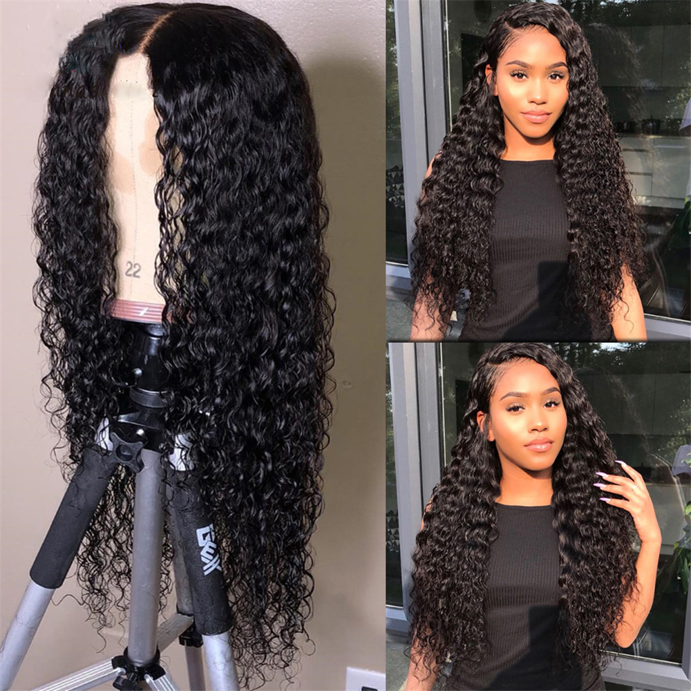 13×6 Lace Human Hair Wigs Natural Color Water Wave Brazilian Remy Hair Pre Plucked Bleached Konts Glueless Wigs With Baby Hair