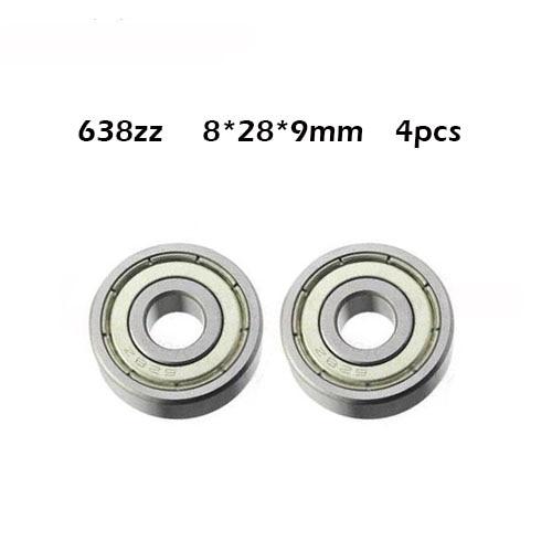 Free shipping 4pcs/lot Factory direct sale 638 638ZZ 638Z 8*28*9 mm High quality deep groove ball bearing 8x28x9mm