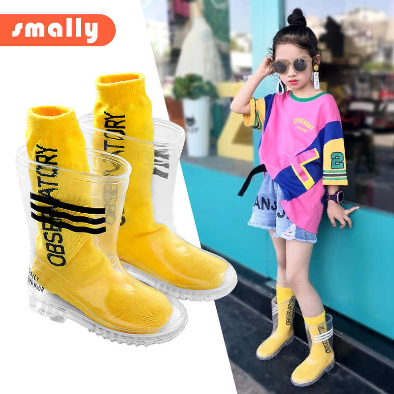 Kids Boys Girls Rain Boots And Letter